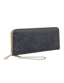 Черно дамско портмоне-чантичка