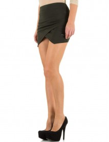 Дамска пола в тъмнозелен цвят