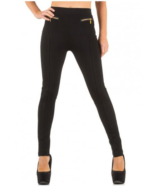 Дамски панталон с ципове