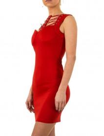 Дамска рокля в червено