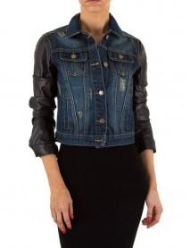 Модерно късо дънково яке