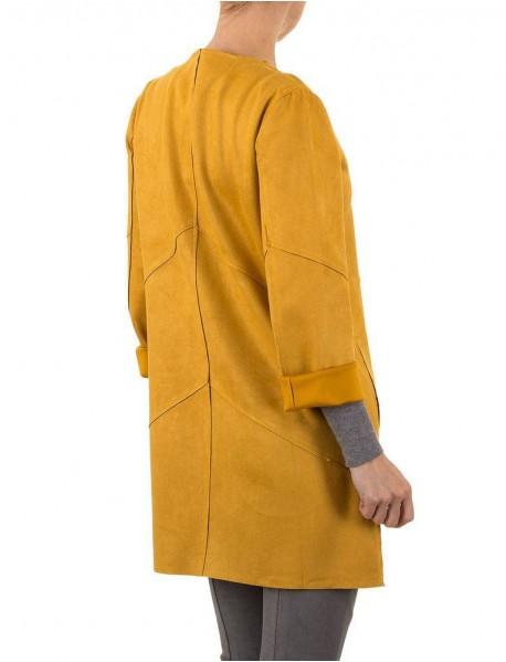 Дамски тренчкот в цвят горчица