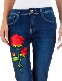 Дамски дънки с роза
