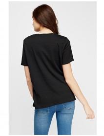 Дамска тениска в черно-Roses