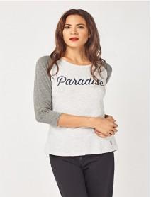 Дамски топ в сиво и бяло-Paradise