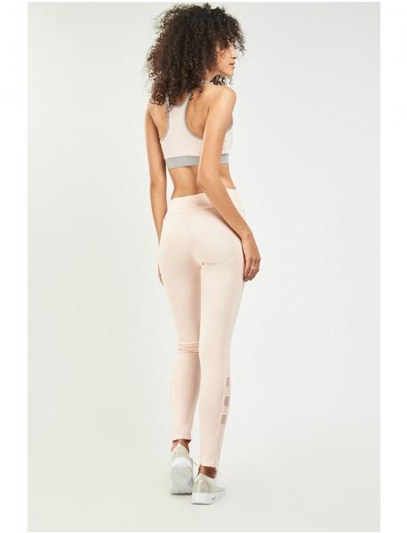 Дамски клин в цвят праскова- Peach