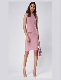 Дамска рокля в цвят пепел от рози