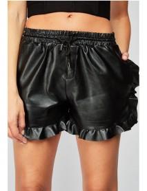 Дамски къси панталонки от еко кожа