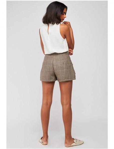 Дамски къси панталонки каре
