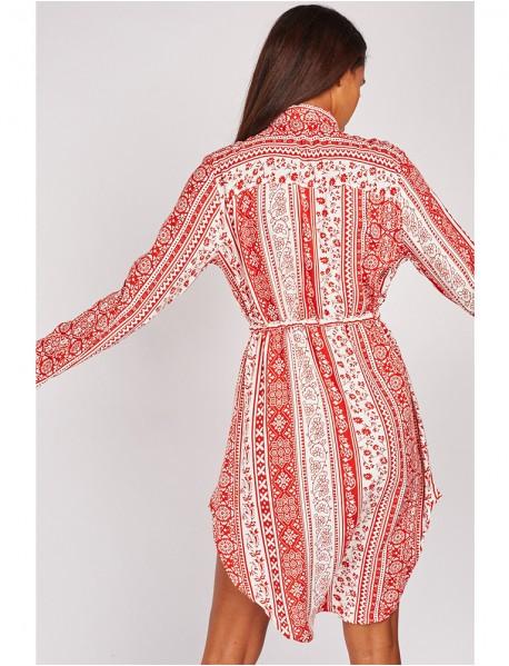 Дамска риза-рокля с актуални мотиви